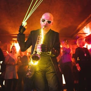 laser saxophonist