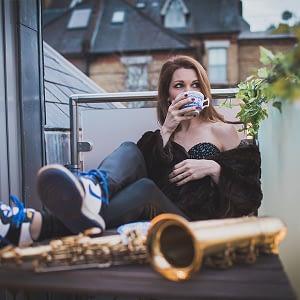 female saxophone player hire