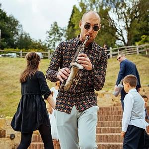 london saxophone player