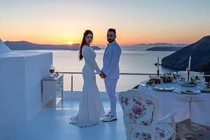 wedding entertainment in santorini