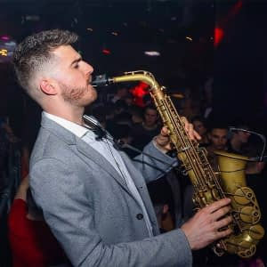 wedding saxophone player