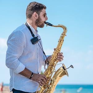 corporate sax player