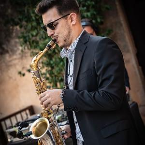 london sax player